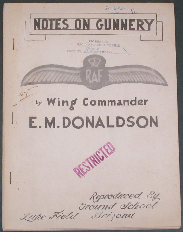 Notes on Gunnery, by Wing Commander E.M. Donaldson